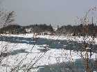 Snow and Ice cover the Nissequogue River