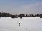 Fore!  Deep snow covers the Smithtown Landing Country Club