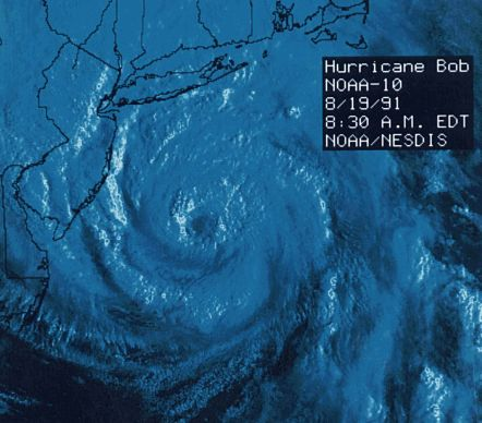 Hurricane Bob, courtesy National Oceanic and Atmospheric Administration (NOAA)