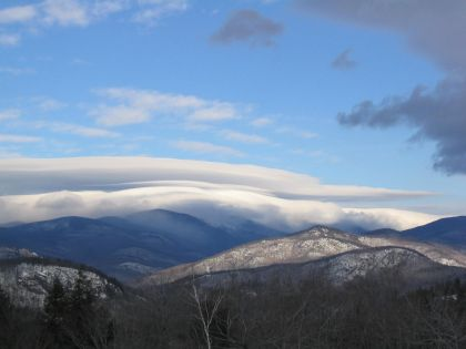 Summit Clouds on Mt Washington, View from near Glen, New Hampshire, 8:40AM 2/12/04
