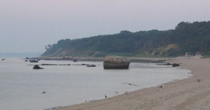 Glacial Boulder in Smithtown Bay 7/10/04