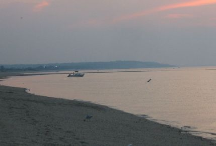 Hazy summer evening on Smithtown Bay 7/10/04