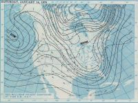 January 14, 1978, 7:30 AM 500 millibar height contours.  Courtesy NOAA Central Library Data Imaging Project.