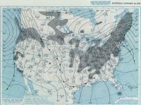 January 14, 1978, 7:30 AM EDT Surface Analysis.  Courtesy NOAA Central Library Data Imaging Project.