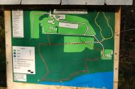 Trail map display at Sweetbriar Nature Center, Smithtown, NY